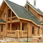 Современные уютные дома из оцилиндрованного бревна