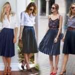 С чем носить плиссированную юбку: примеры сочетаний в образах