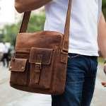 Мужская кожаная сумка через плечо как имиджевый и элегантный аксессуар