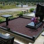 Обустройство территории около могилы