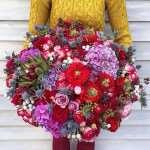Правильное сочетание цветов в букете