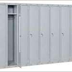 Металлический шкаф для раздевалки – практичный и гигиеничный вариант
