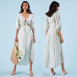 Льняное платье — свежий и актуальный вид