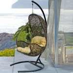 Практичность подвесного кресла из ротанга